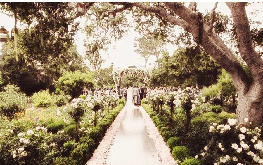 Ceci New York And Preston Bailey Feature The Lindberg House In A Fairy Tale Wedding Carmel By Sea