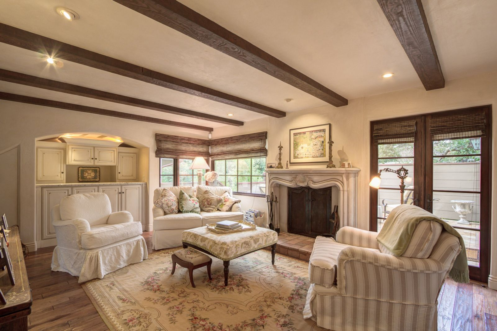 French Country Cottage Living Room: A Tired 1940 Project Turned French Country Cottage